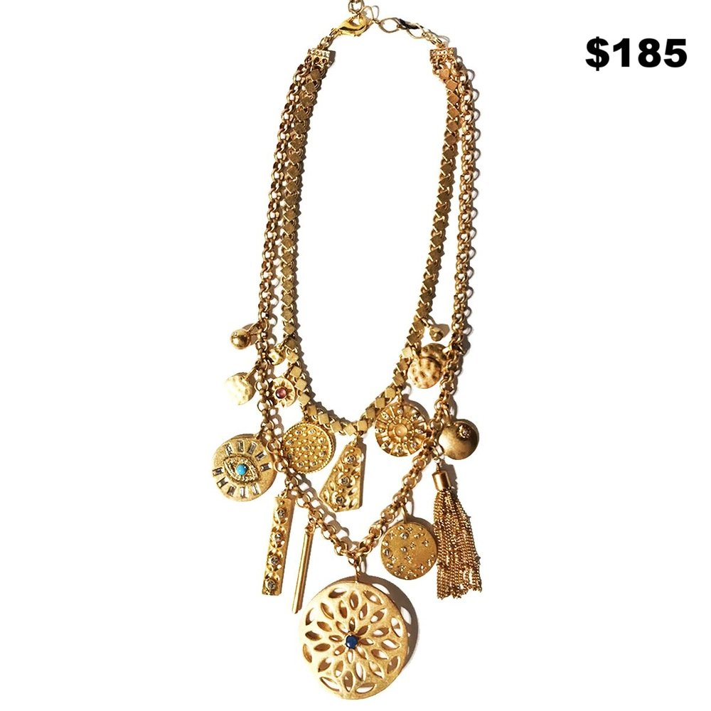 Seguin Gold Medalian Necklace