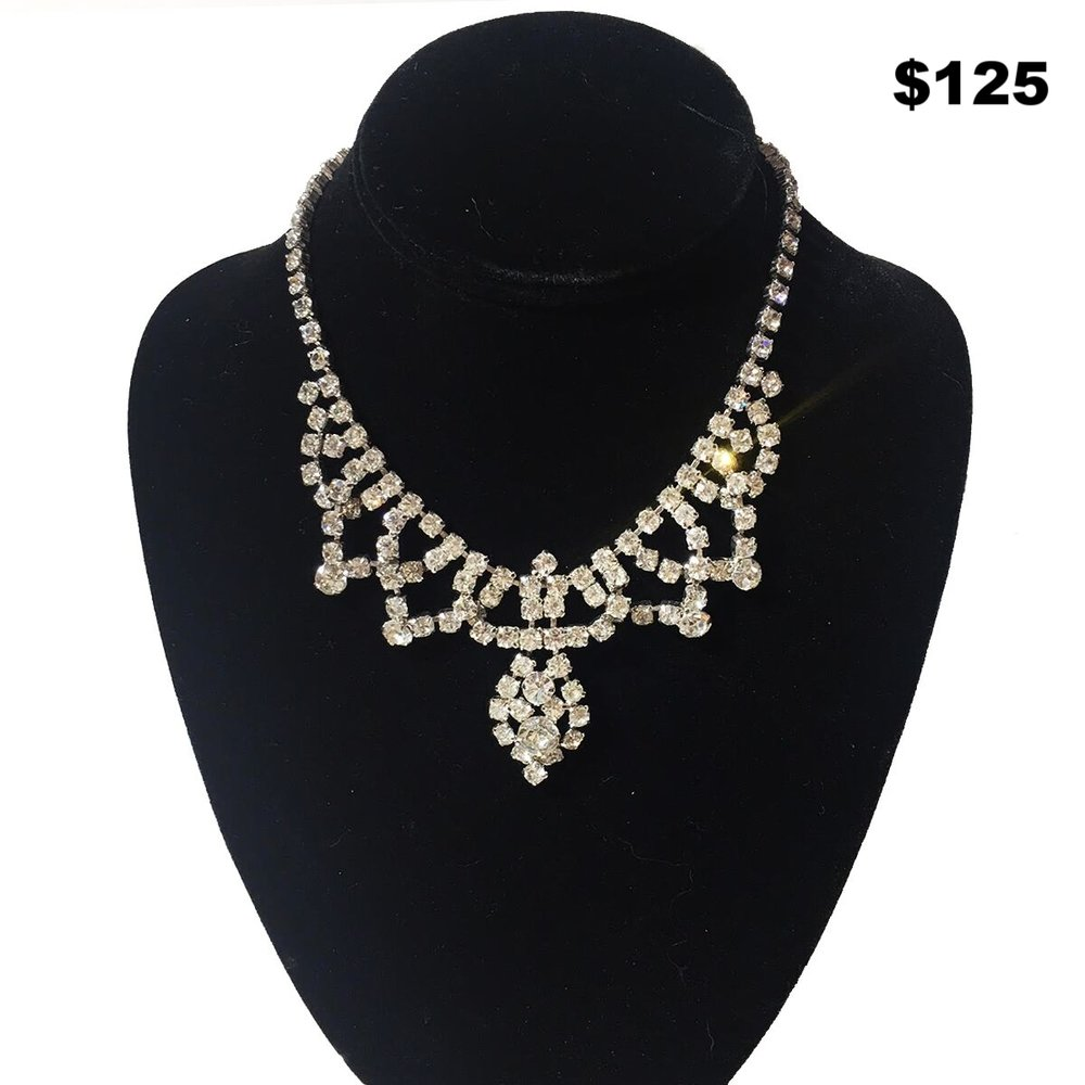 Rhinestone Tiarra Necklace