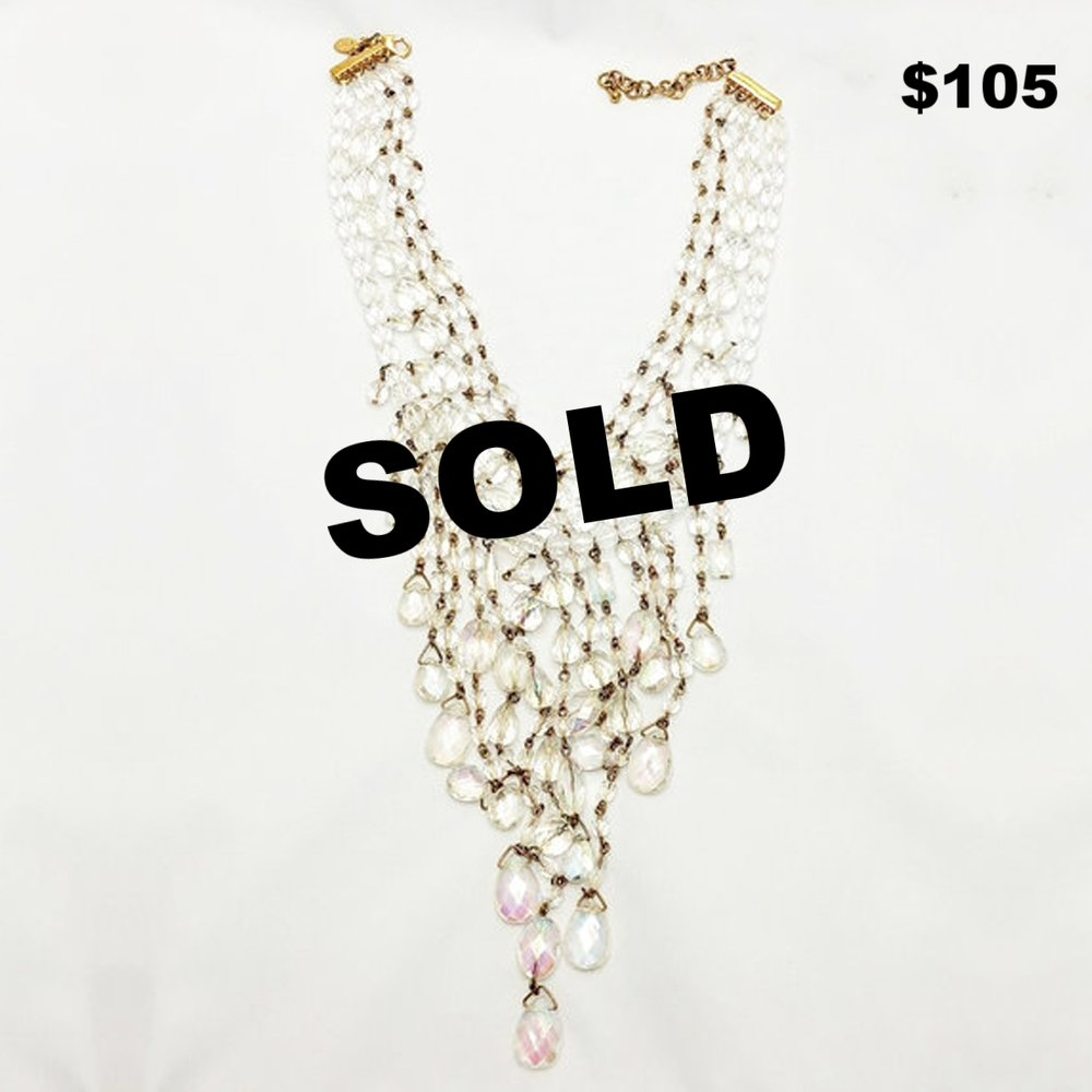 Joan Rivers Crystal Necklace