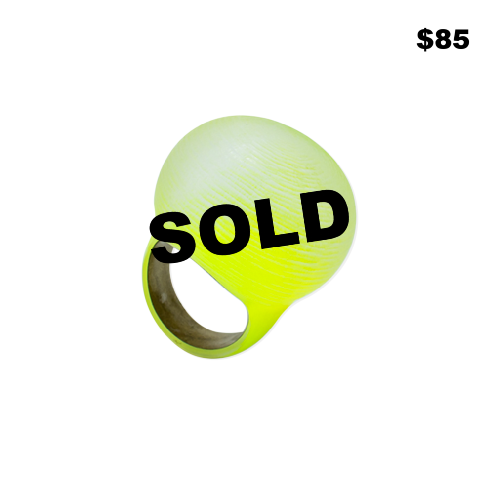 Green Lucite Bubble Ring - $85