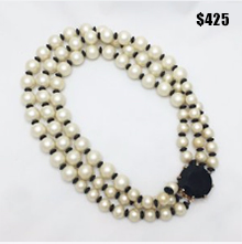 50's Pearl Bib Necklace