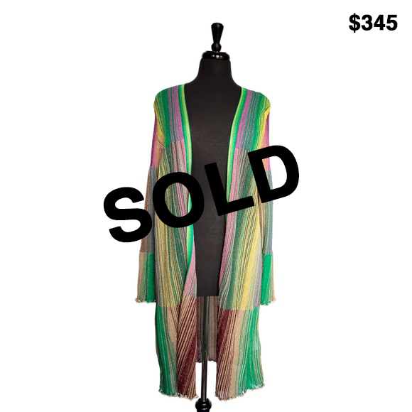 Missoni Multi Colored Knit Cardigan