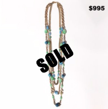 Henry Blue & Green Stone Necklace