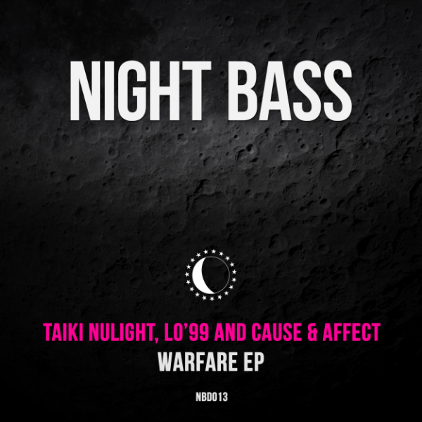 "Put three of the grimiest underground producers in a room together and what do you get? These two naughty songs. ""Warfare"" is a heavy, uncompromising banger, flipping between breakbeat and four to the floor stomps amidst an atmosphere of jungle animal sounds, lifted by urgent horns and sirens. ""Dominos"" retains the dark tone but switches up the style to a deep bassy roller, tinged with a little bit of tech house. Peak time badman bass all the way. - AC Slater"