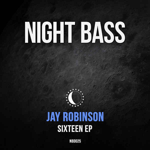 "Prolific Welsh producer Jay Robinson is back with his 3rd EP for Night Bass. The ""Sixteen"" EP is a 4 tracker packed with dark mangled bass lines and his signature atmospherics. Jay scales the heaviness back from his last Night Bass release in favor of more moody and groove driven tracks - but don't get it twisted, there's no shortage of bass here. All 4 songs are ripe for peak time plays in a multitude of settings. Another smash for Night Bass veteran Jay Robinson."