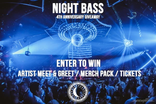 Grand prize: Meet & Greet + Merch Pack + Tickets 2nd Prize: Merch Pack + Tickets 3rd Prize: Tickets All prizes redeemable at the Night Bass 4th Anniversary show in Los Angeles on January 18th, 2018.