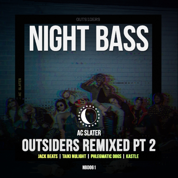 After the release of AC Slater's huge debut album Outsiders last year, we called upon the Night Bass crew to bless us with remixes of the LP. We'll be releasing these in batches. For the second collection we've got epic remixes from Jack Beats, Taiki Nulight, Phlegmatic Dogs and Kastle.