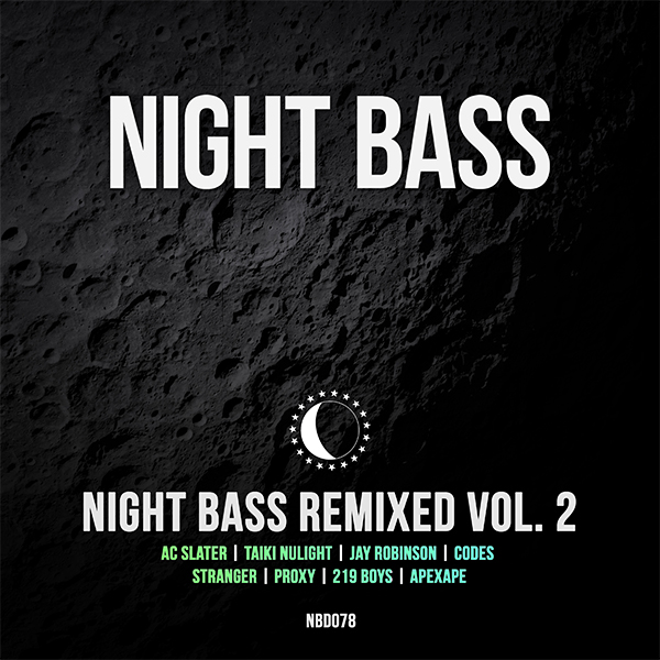 It's time for our second remix compilation. We've got some amazing artists remixing some of our favorite Night Bass tracks including label boss AC Slater, Taiki Nulight, Proxy, Jay Robinson, 219 Boys, Codes, Stranger and APEXAPE.