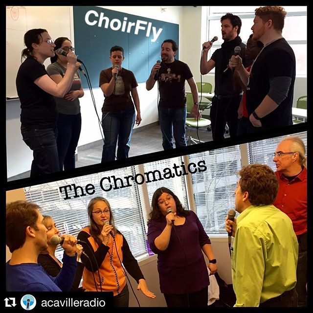 #Repost @acavilleradio with @repostapp. ・・・ Did you somehow miss last night's all new episode of #TheSpotlight with @choirfly and #TheChromatics? Shame! You are in luck, though! Catch the rebroadcasts this Saturday, 4/23! Check local times at www.acaville.com. #secondchancesrock