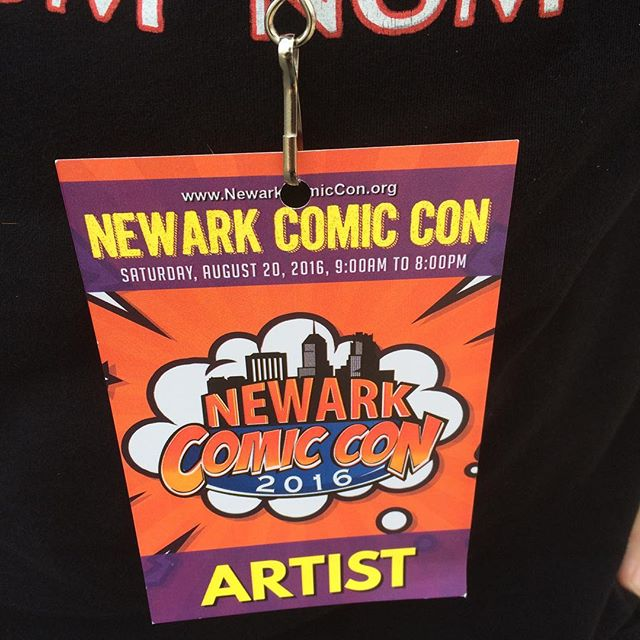 "We're here, @newarkcomiccon! Come say ""hi""!"