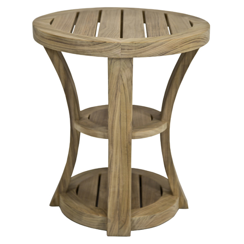 Noosa Teak Side Table Round Marcali - Teak side table with drawer
