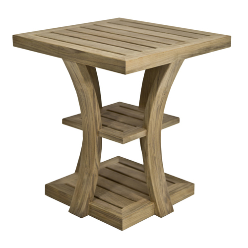 Noosa Teak Side Table Square Marcali - Teak side table with drawer