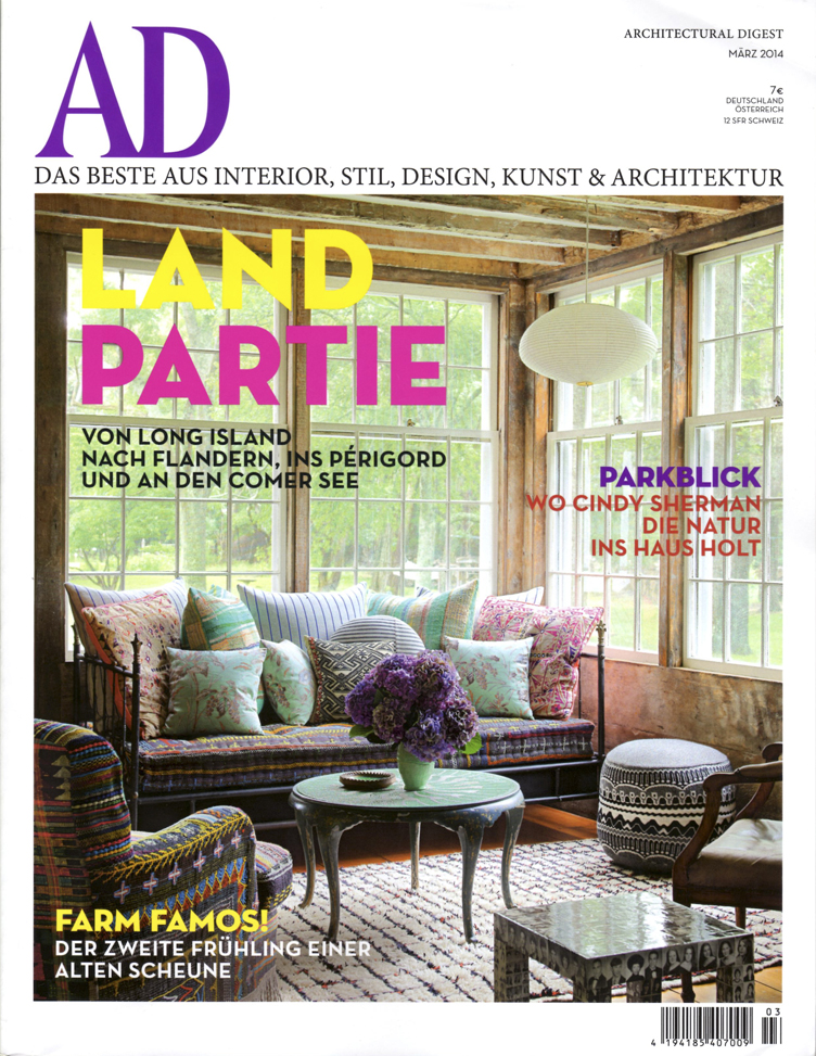 The Cover of the March Issue of German Architectural Digest
