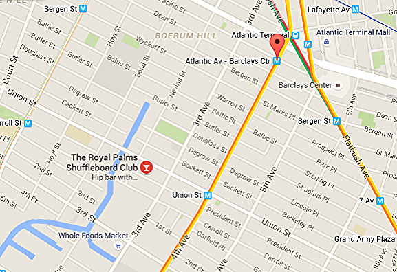 We're just one short stop from Atlantic/Barclays Center on the R train to Union Street.