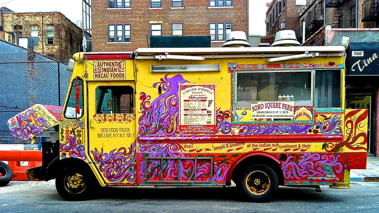 NYCs First Ever Authentic Indian Food Truck Kati Rolls Chicken Tikka MasalaHaleem The Puri Bhajilove Of A Billion People Counting