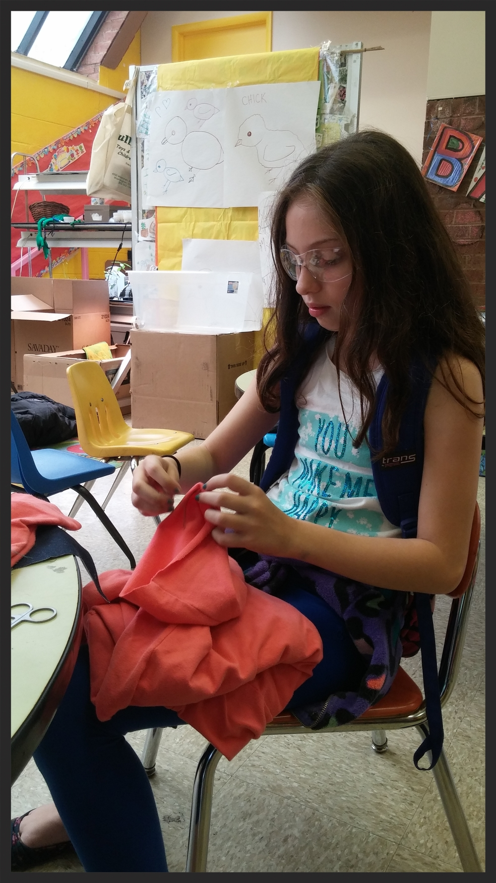 "A student makes modifications to her jacket in order to turn it into, ""The World's Best Jacket!"""