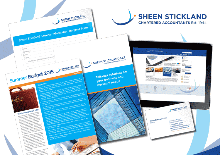 Sheen Stickland Logo development and literature design and print