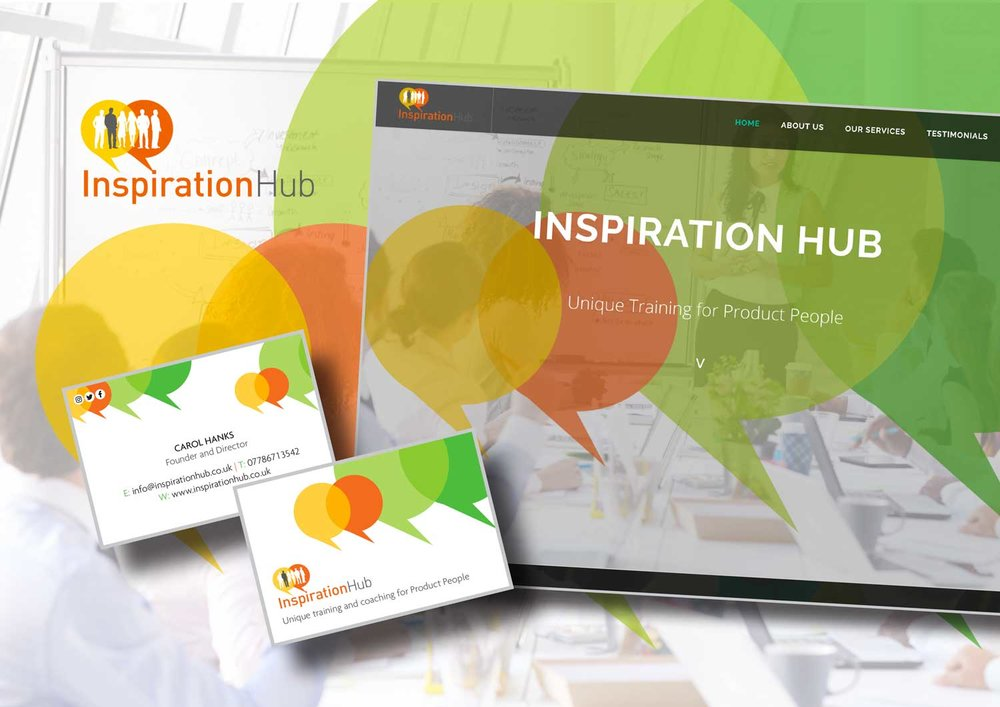 Inspiration Hub new logo and website design