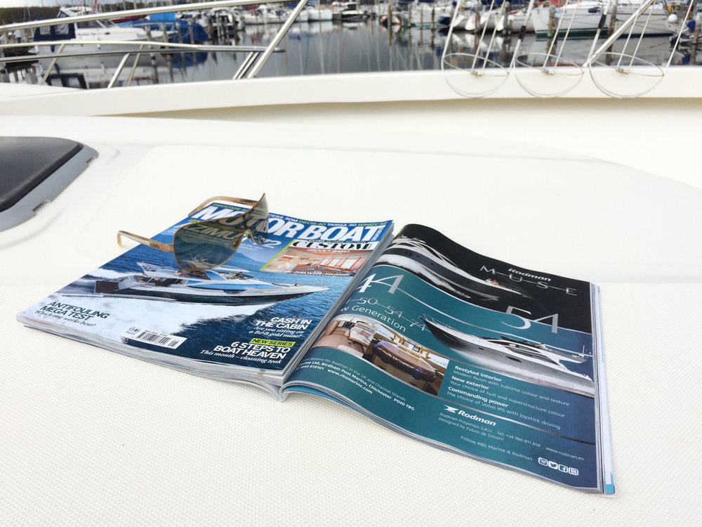 Magazine layout and advert creation for RBS Marine in Birdham.