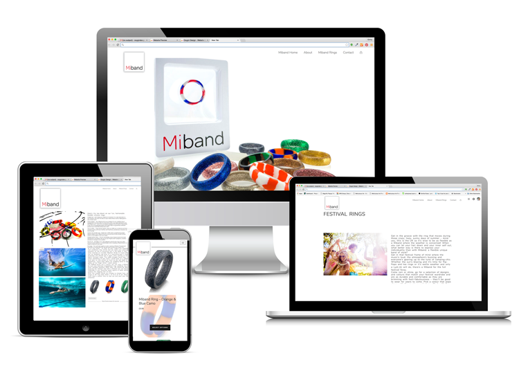 Miband website and logo design