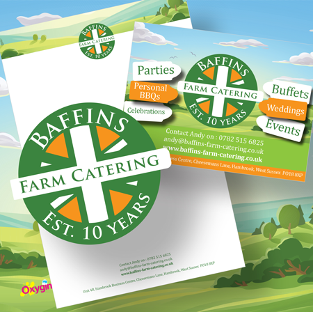 Logo design and leaflet design