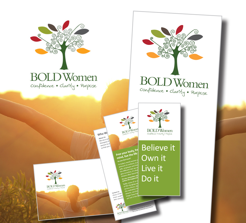 Bold Women - Logo, website and literature creation