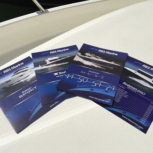 RBS Marine - Rodman luxury brochure pricelists printed and onboard