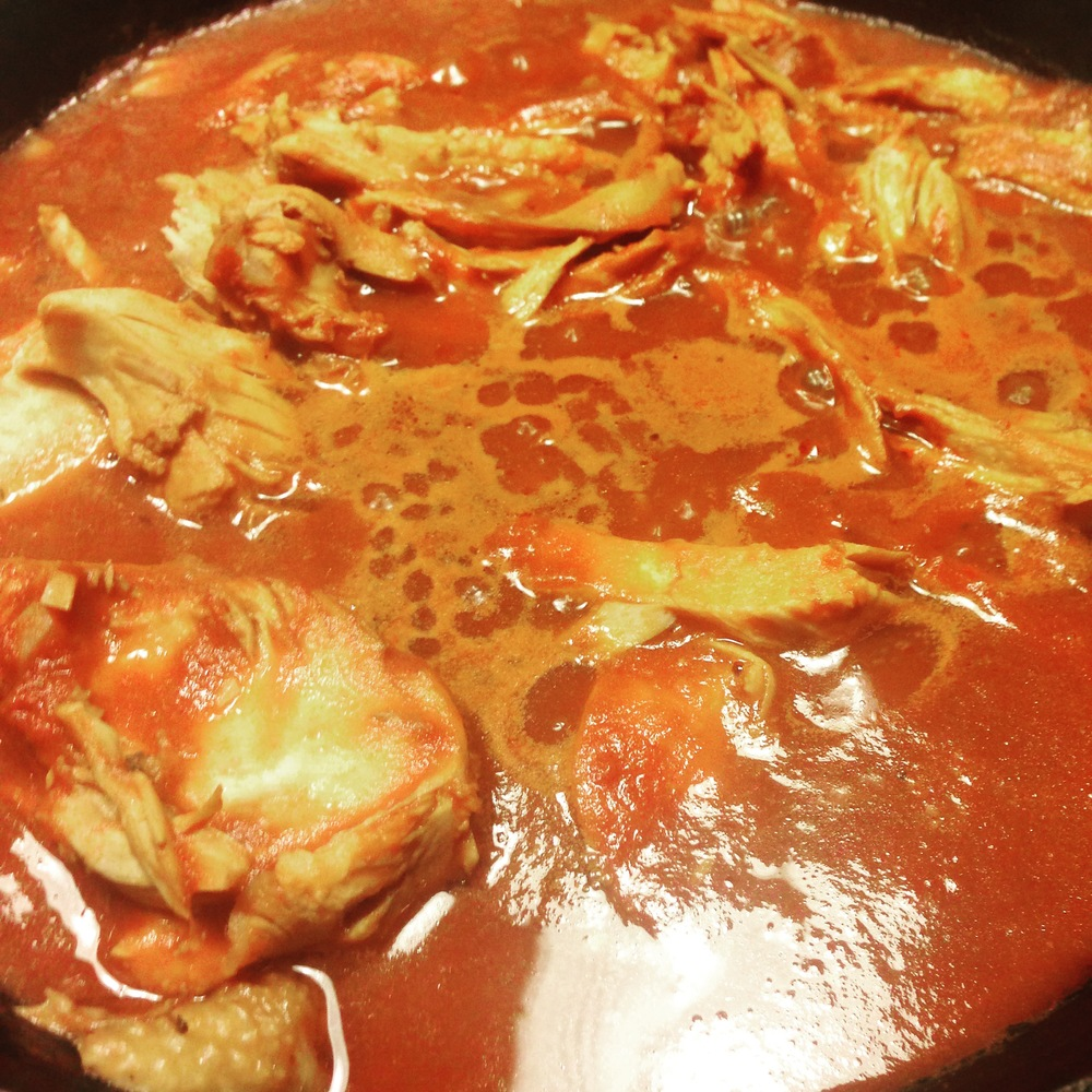 Chicken Breast simmering in this awesome sauce