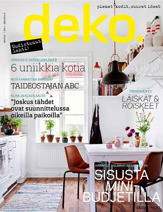 DEKO - Featured in Deko magazine's August 2015 issue.