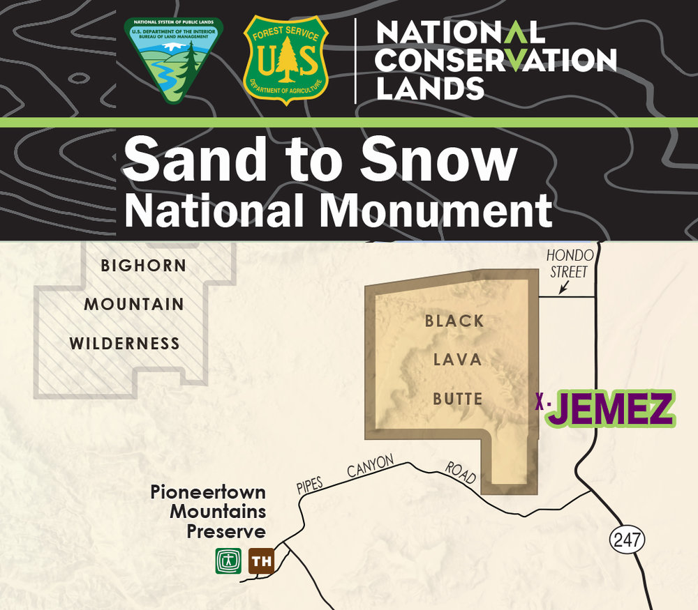 SAND TO SNOW NATL MONUMENT - Black Lava Butte & Flat Top Mesa segment.