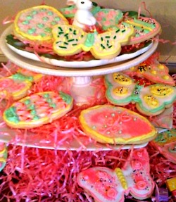 Happy Easter!!    Use my  sugar cookie recipe  featured in my blog and decorate some edible easter eggs!   Click the sugar cookie words above for a link to the recipe, and for an icing recipe click   here