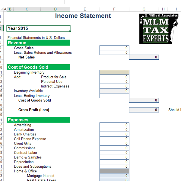 Profit And Loss Excel Sheet For Multi Level Business  How To Do Profit And Loss Statement