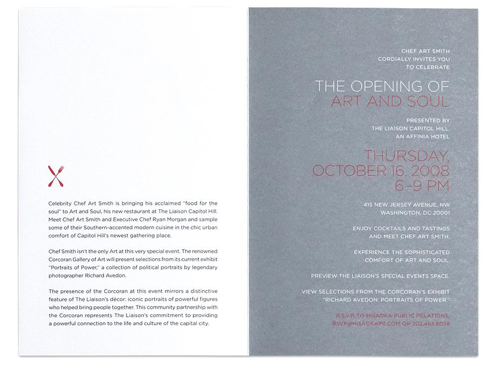 Affinia hotels collection art soul restaurant invitation ida invitestationery artsoul 03g stopboris Images
