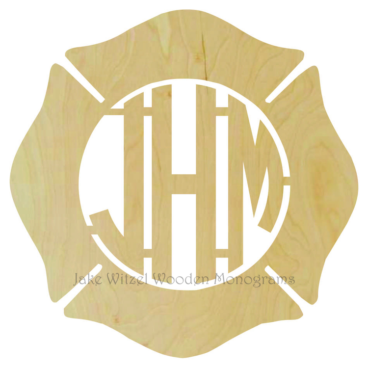three letter shield monogram