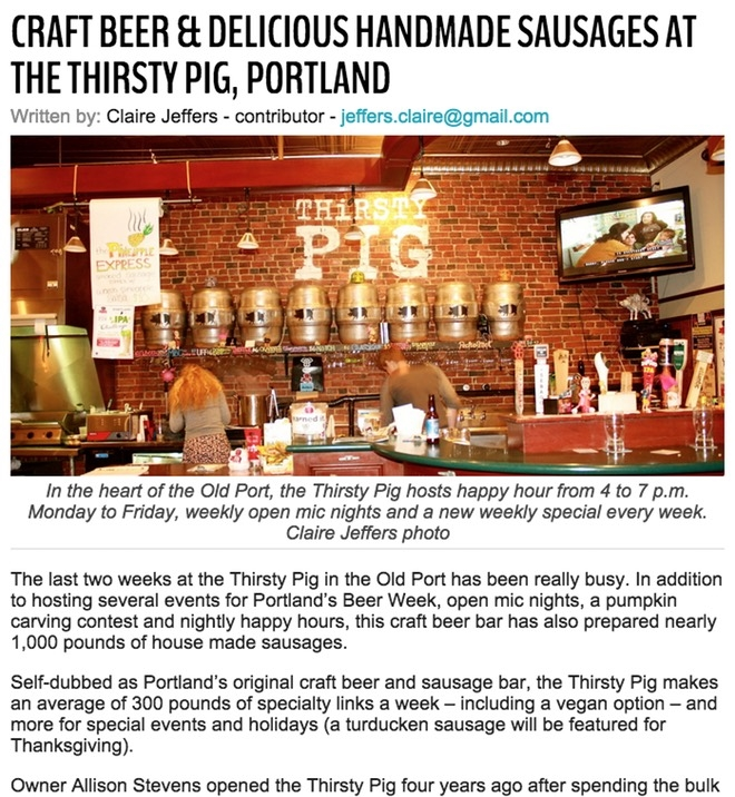 CRAFT BEER & DELICIOUS HANDMADE SAUSAGES AT THE THIRSTY PIG, PORTLAND