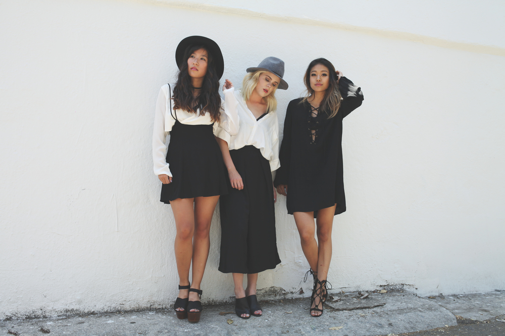 (left to right) Judy, Kristina, and Remi (not pictured: Sonia - stylist, Frankie - photographer)