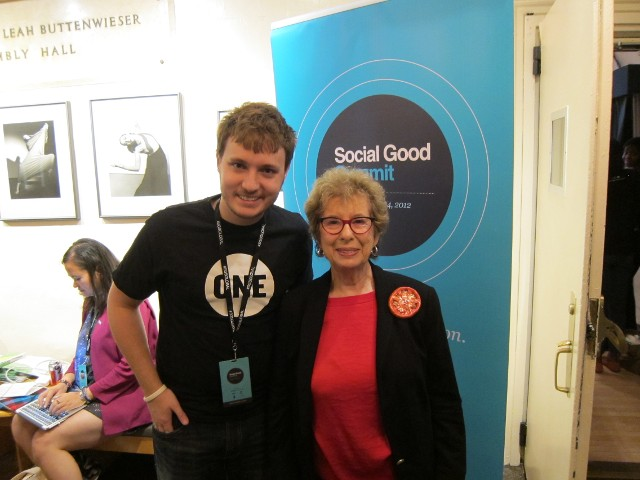 Alice March at the Social Good Summit
