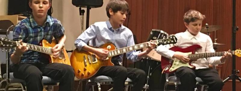 Guitar Collective 2017 performing at our Spring Recitals.