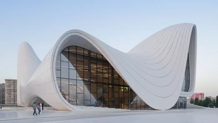 Azerbaijan's Heydar Aliiyev Centre by the late Iraqi-British architect, Zaha Hadid (credit: Iwan Bann)