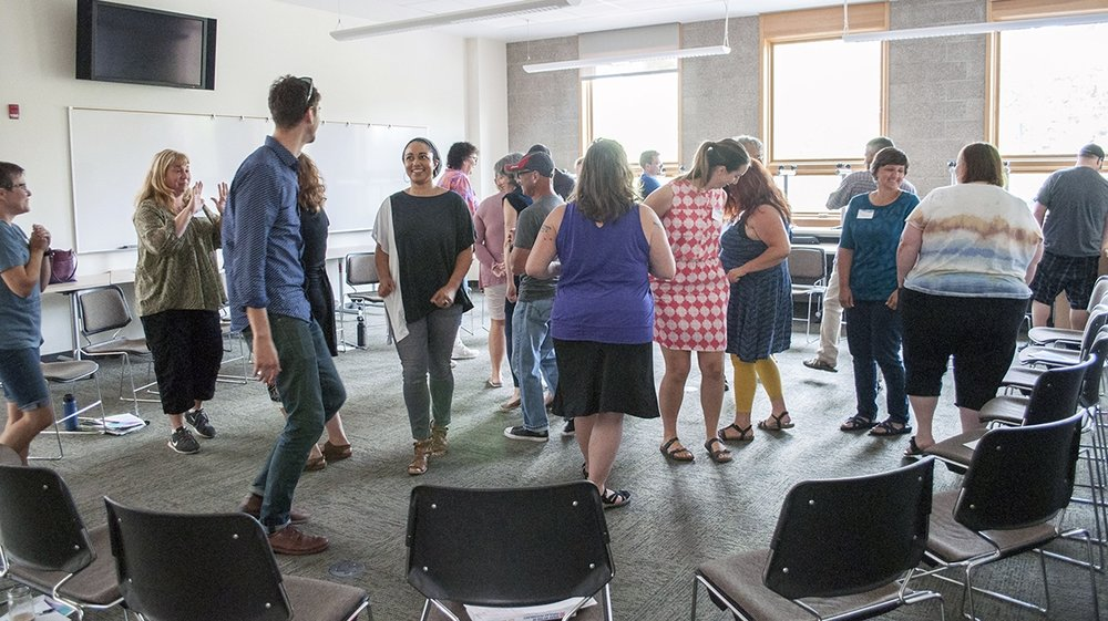 Teachers and Weavers used basic theatre exercises to investigate empathy and cultures of thinking.