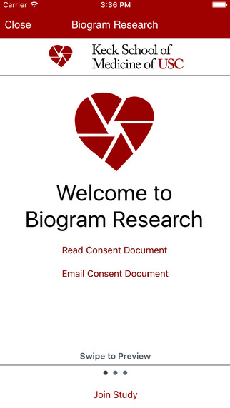 Biogram on Apple ResearchKit