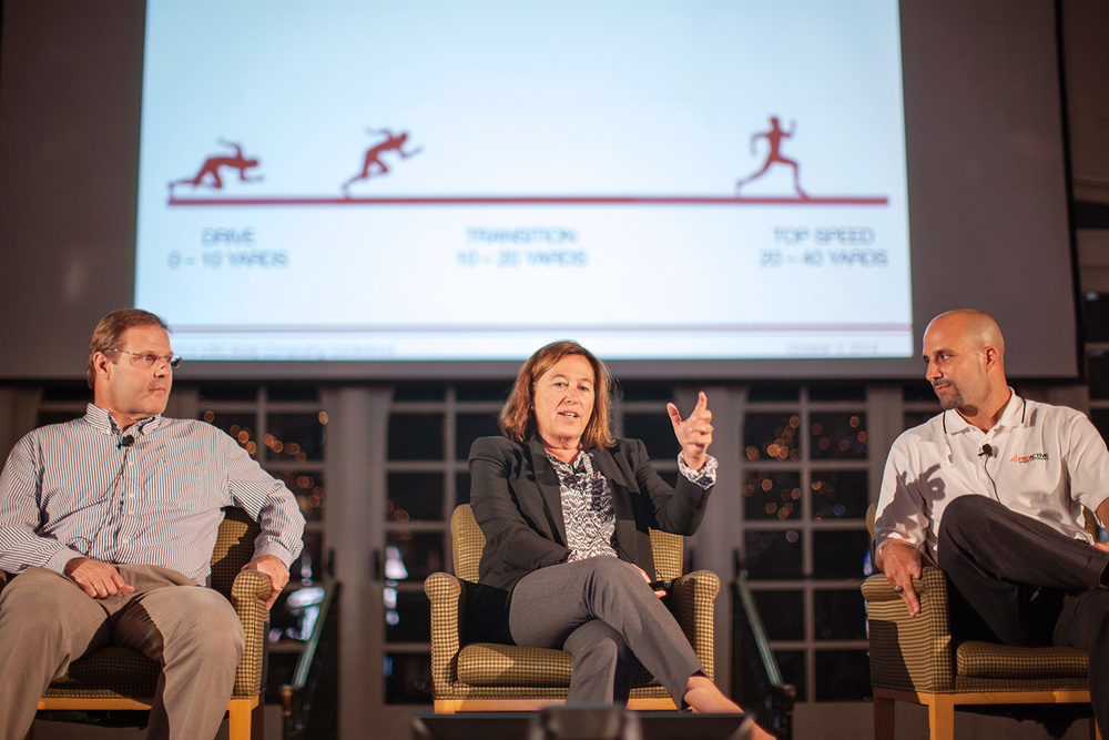 Left to Right: Paul Robbins (Director of Elite Performance, STATS LLC.); Dr. Leslie Saxon (Founder & Executive Director, USC Center for Body Computing); Ryan Capretta (Founder & Director, Proactive Sports Performance Lab)
