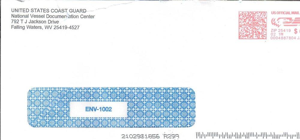 Real Coast Guard Envelope