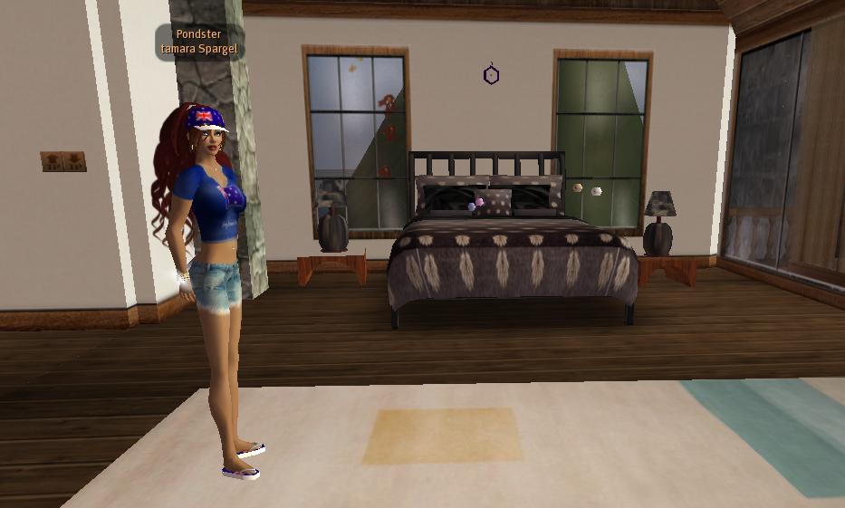 Tamara Spargel in her bedroom.