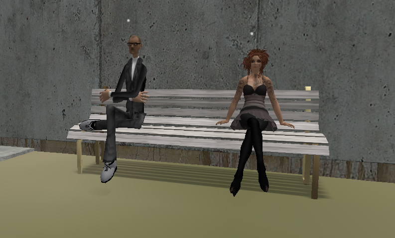 Me and virtual Steve Jobs