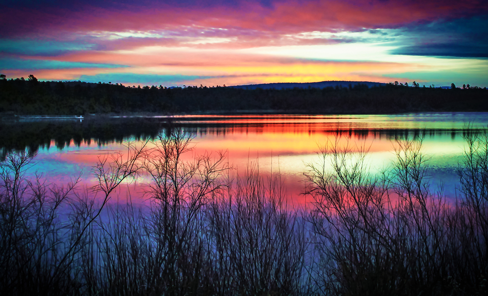 Show Low Lake Arizona at Sunrise