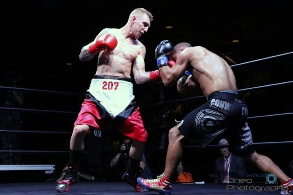 """Portland Boxing Club's Casey """"Buzzsaw"""" Kramlich. Photo by Kineo Photography."""
