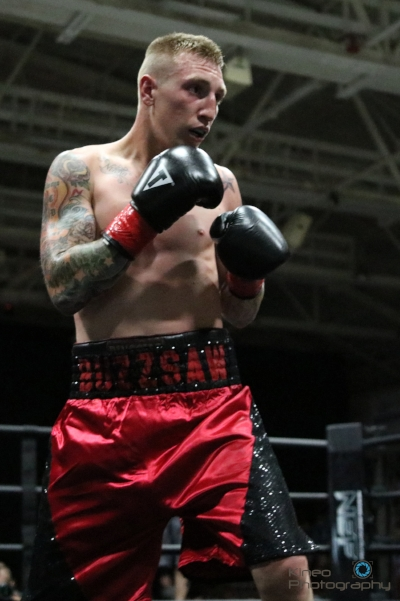 "Portland Boxing Club's Casey ""Buzzsaw"" Kramlich (8-0-1, 4 KO) at the Androscoggin Bank Colisee in Lewiston. Kramlich has signed as the Main Event for the ""Pro-Am Boxing"" show in Skowhegan on July 29."