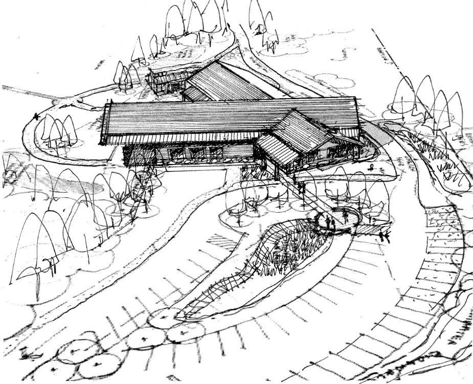 Exterior Visitor Center Sketch (front)