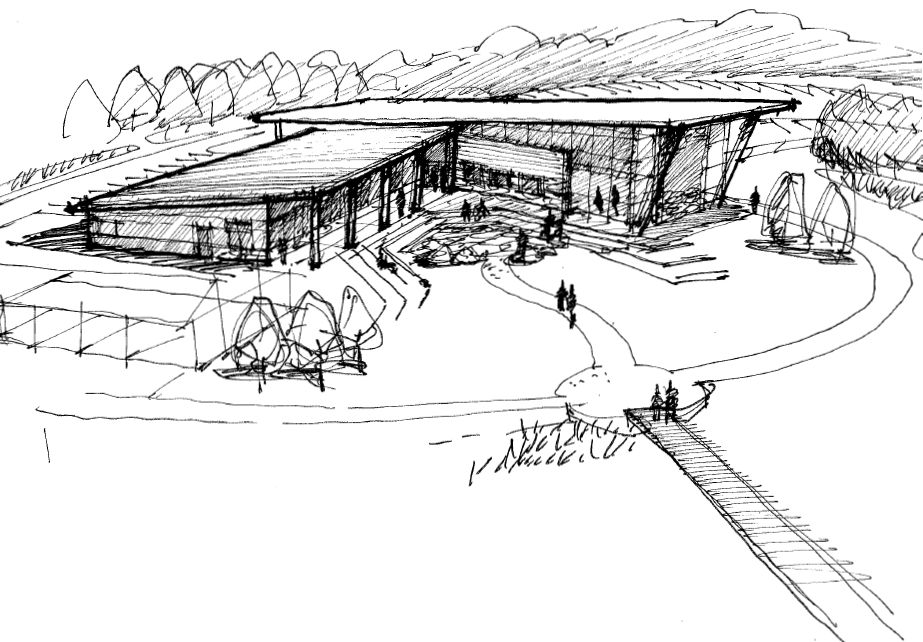 Exterior Visitor Center Sketch (back)